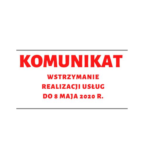 Komunikat w sprawie wstrzymania do 8 maja 2020 r. realizacji usług w Centrum wsparcia opiekunów